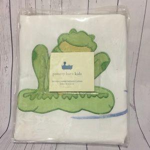 NEW Pottery Barn Kids Froggy Shower Curtain